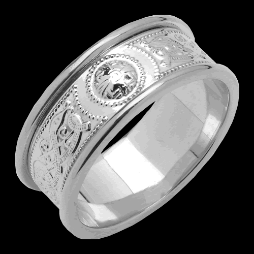 Medium An Ri Wedding Band with Trim