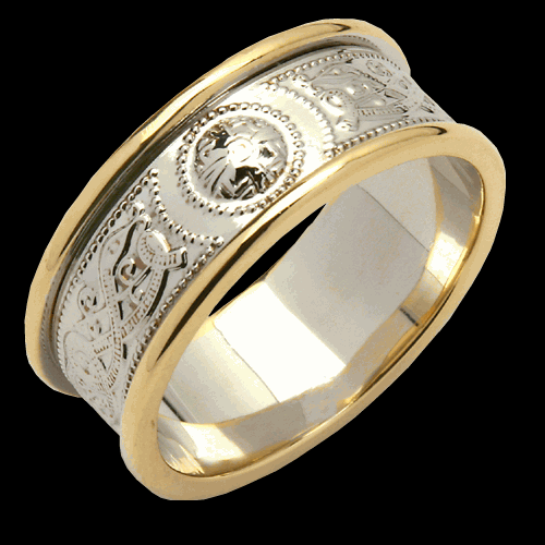 Medium Two Tone An Ri Wedding Band