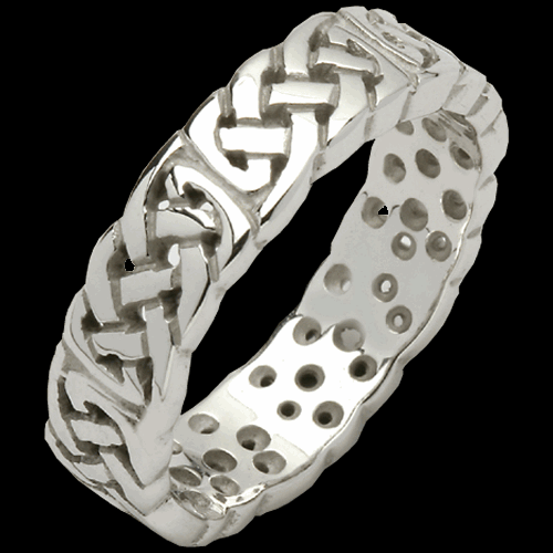 Woven Pierced Sheelin Wedding Band
