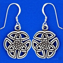 3-in-1 Trinity Silver Plated Earrings