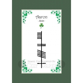 Aaron - Ogham Boys Name