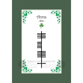 Anna - Ogham First Name