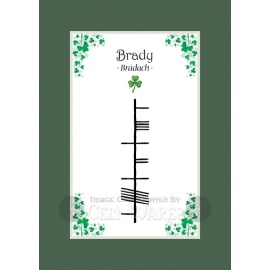 Brady - Ogham First Name