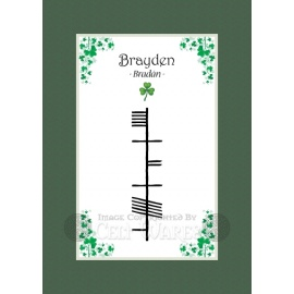 Brayden - Ogham First Name