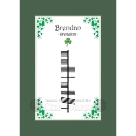 Brendan - Ogham First Name