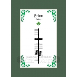 Brian - Ogham First Name
