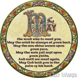 Celtic Coasters 4pk - May the Road Rise