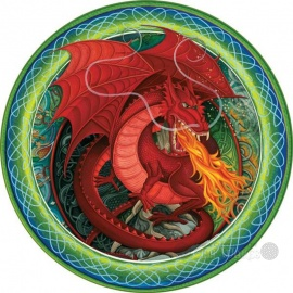 Celtic Coasters 4pk - Red Dragon