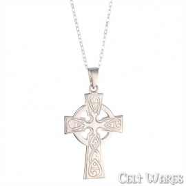 Celtic Cross with Hearts Pendant