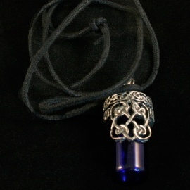 Celtic Heart Bottle Pendant