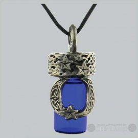Celtic Moon Bottle Pendant