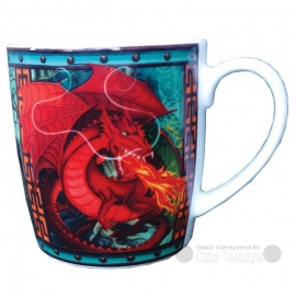 Celtic Red Dragon Mug