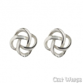 Celtic Rose Knot Silver Earrings