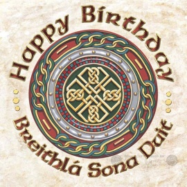 Celtic Shield - Happy Birthday Card