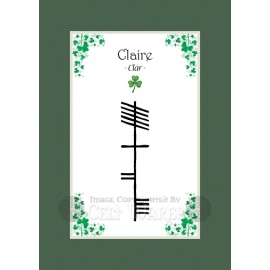 Claire - Ogham First Name