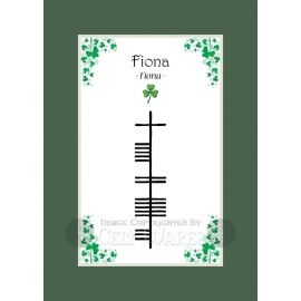 Fiona - Ogham First Name