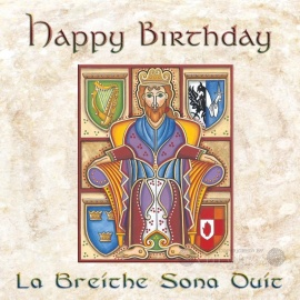 Happy Birthday - Celtic Card - Brian Boru