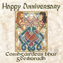 Happy Anniversary Card - Diarmuid & Grainne