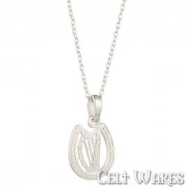 Harp in Horseshoe Pendant