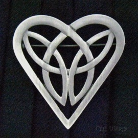 Heart Knot Brooch