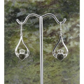 Connemara Marble Claddagh Earrings