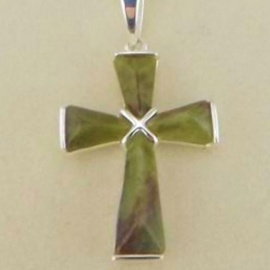 Connemara Marble (Small) Cross On Chain