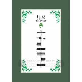 King - Ogham Last Name