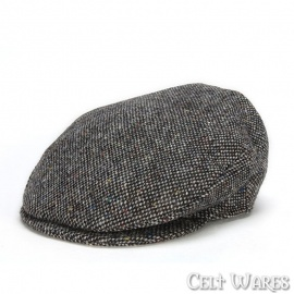 Gray Salt & Pepper Tweed Cap