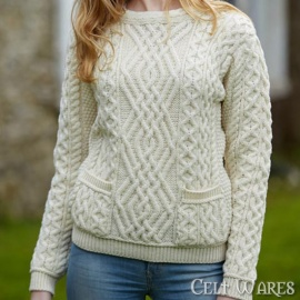 Merino Sweater with Pockets (Natural)