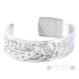 Pewter Bangle - MacKintosh Roses