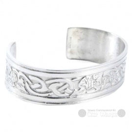 Pewter Bangle - Thistle