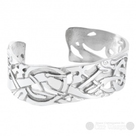 Pewter Bangle - Celtic Hound