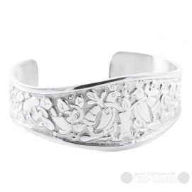 Pewter Bangle - Royal Birds