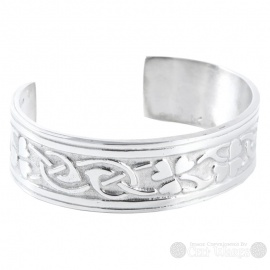Pewter Bangle - Shamrocks