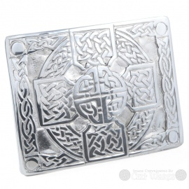 Pewter Belt Buckle - Celtic Cross