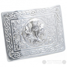 Pewter Belt Buckle - Scottish Thistle