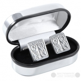 Pewter Cufflinks - Rectangle Knot