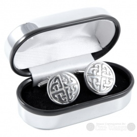 Cufflinks - Round Eternity 4x Knot