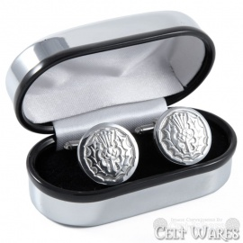 Cufflinks -  Round Thistle Gloss
