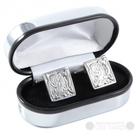 Pewter Cufflinks - Square Knot