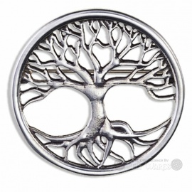 Pewter Tree of Life Brooch