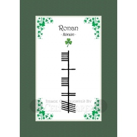 Ronan - Ogham First Name