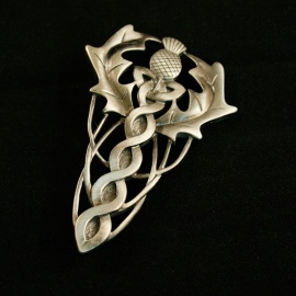 Scottish Thistle and Knotwork Kilt Pin