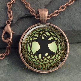 Tree of Life Round Domed Pendant