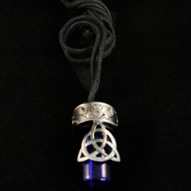 Trinity and Claddagh Bottle Pendant