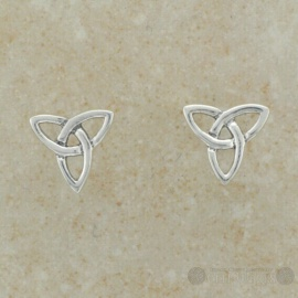 Trinity Post Celtic Sterling Silver Earrings
