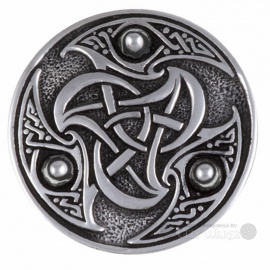 Triskele Shield Pewter Brooch
