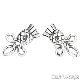 Thistle Silver Studs