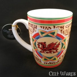 Welsh Dragon in Celtic Knot Mug