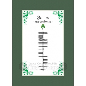 Burns - Ogham Last Name